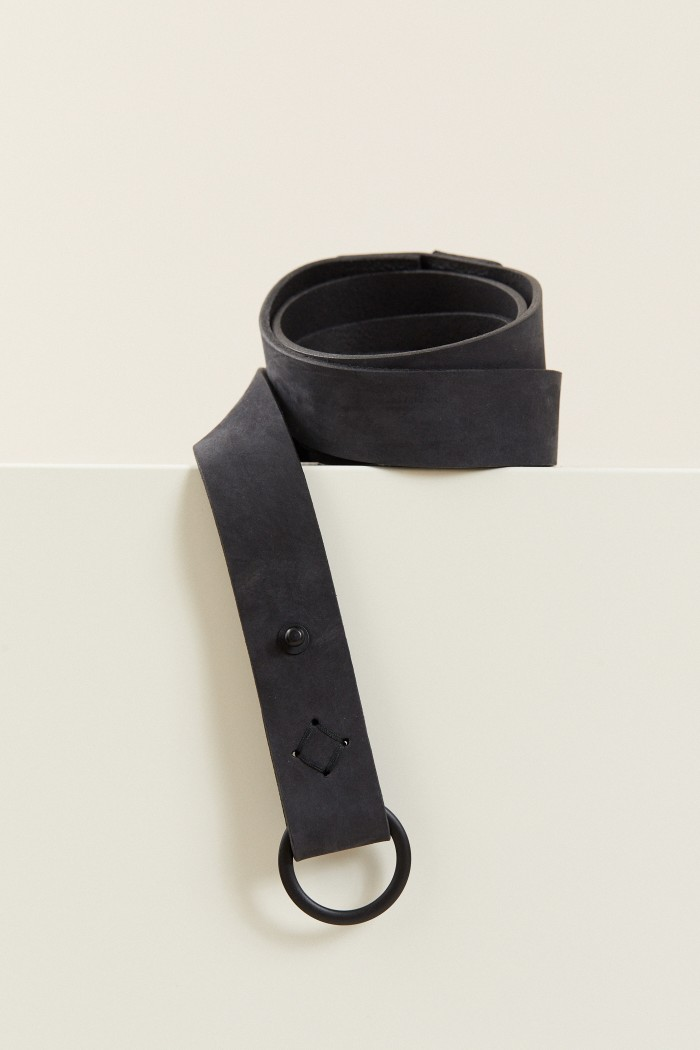 TIE BELT made of Leather