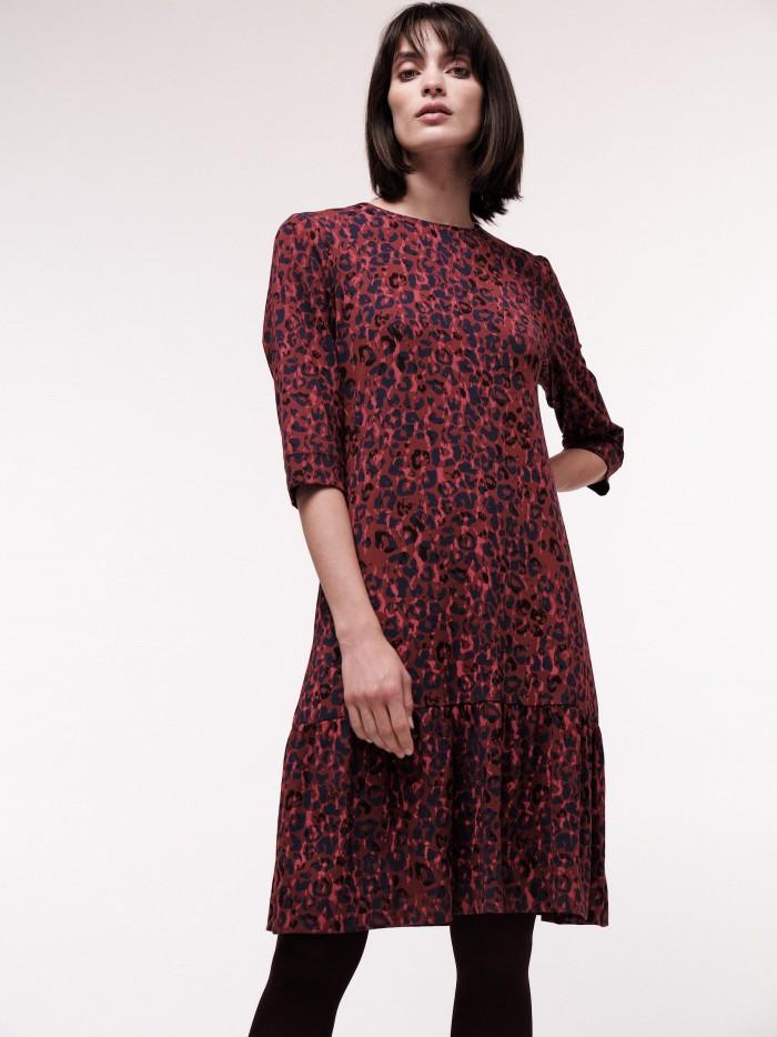 Kleid mit 3/4 Arm und Print