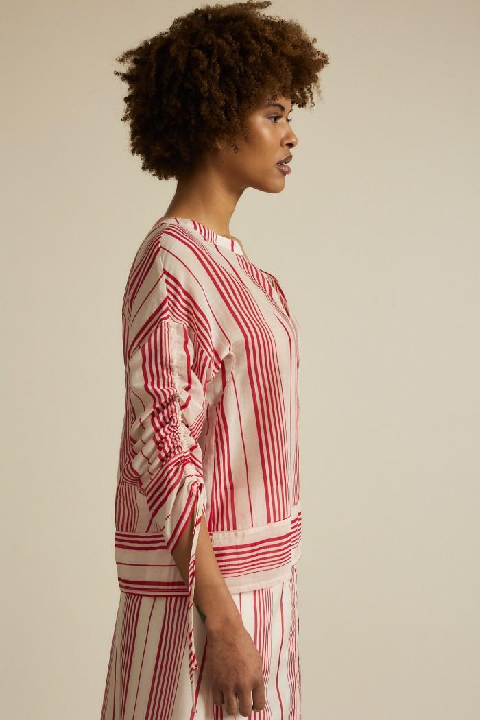 Bluse Print Stripe