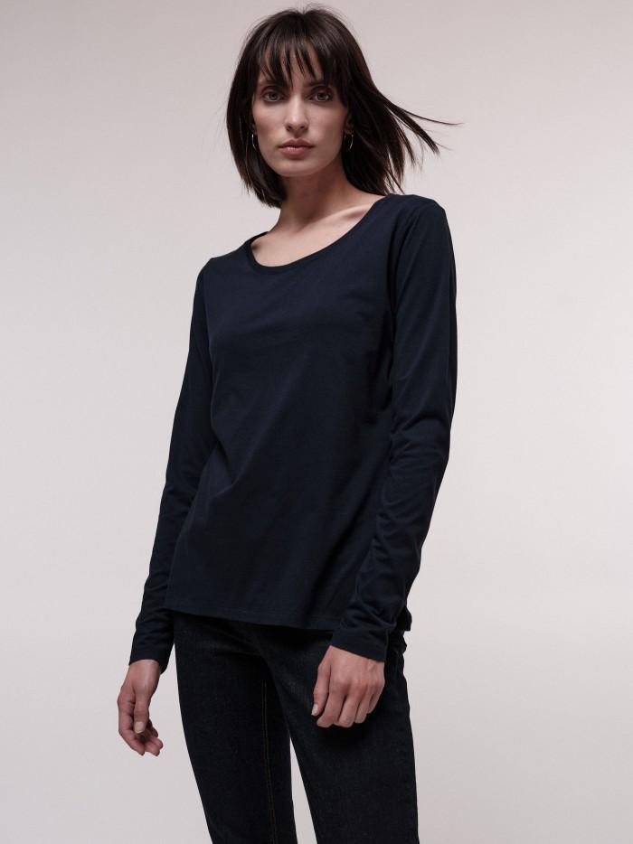 Wertiges Langarmshirt aus Bio-Baumwolle GOTS