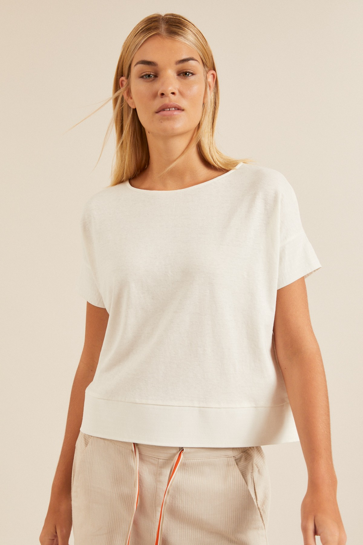 SHIRT with silk insert made of hemp with organic cotton