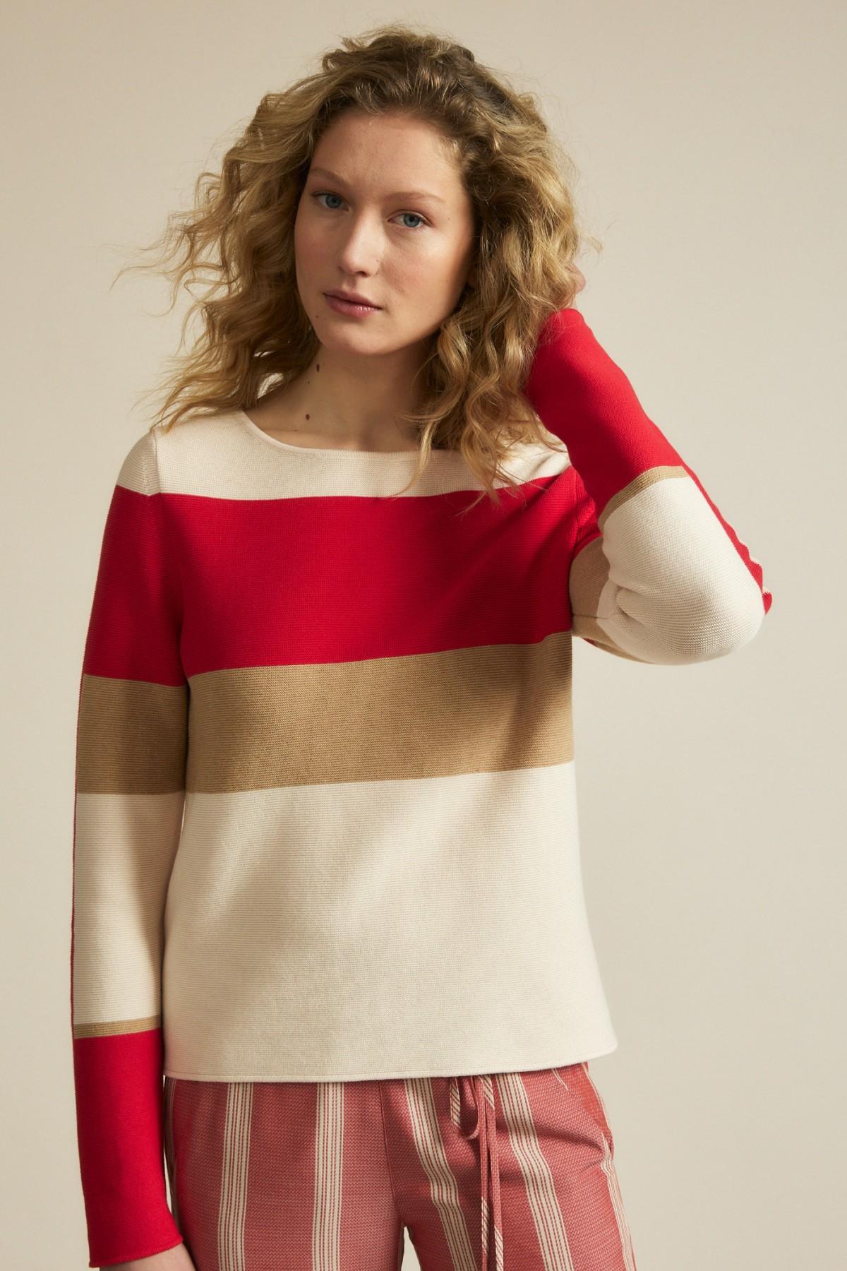 Pullover mit Colourblock GOTS