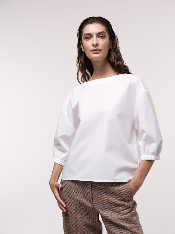 3/4 Arm Bluse aus Bio-Baumwolle