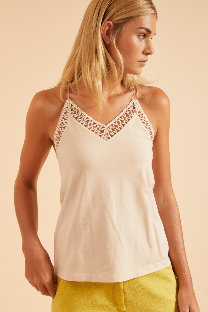 ETHNO-TOP with lace made of organic cotton