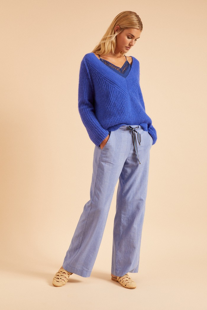 MARLENE PANTS made of organic cotton with linen GOTS