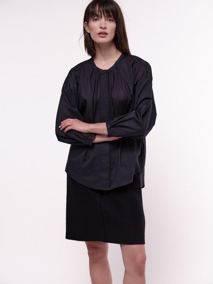 Bluse mit Streifen aus Bio-Baumwolle