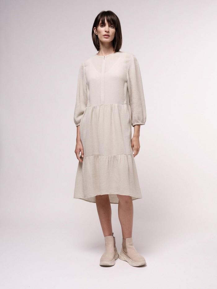 Soft midi dress with texture