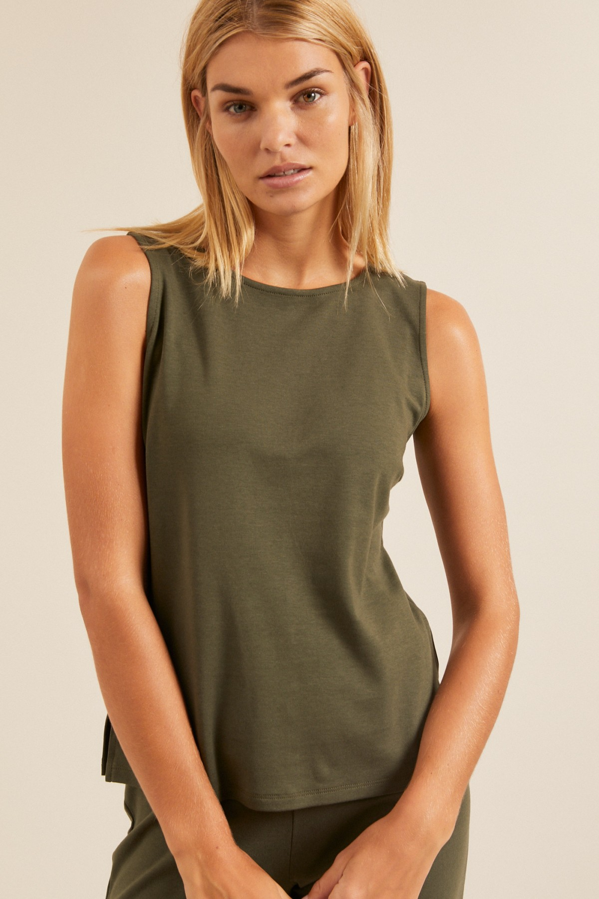 TOP made of TENCEL™ Lyocell with organic cotton