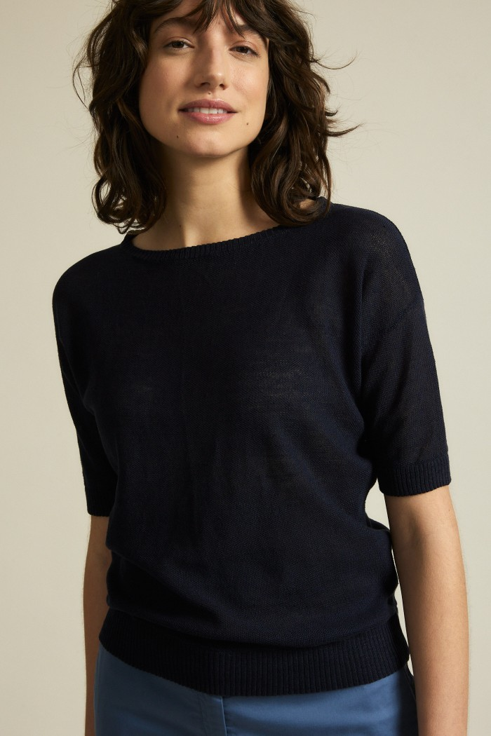 Hemp short sleeve sweater
