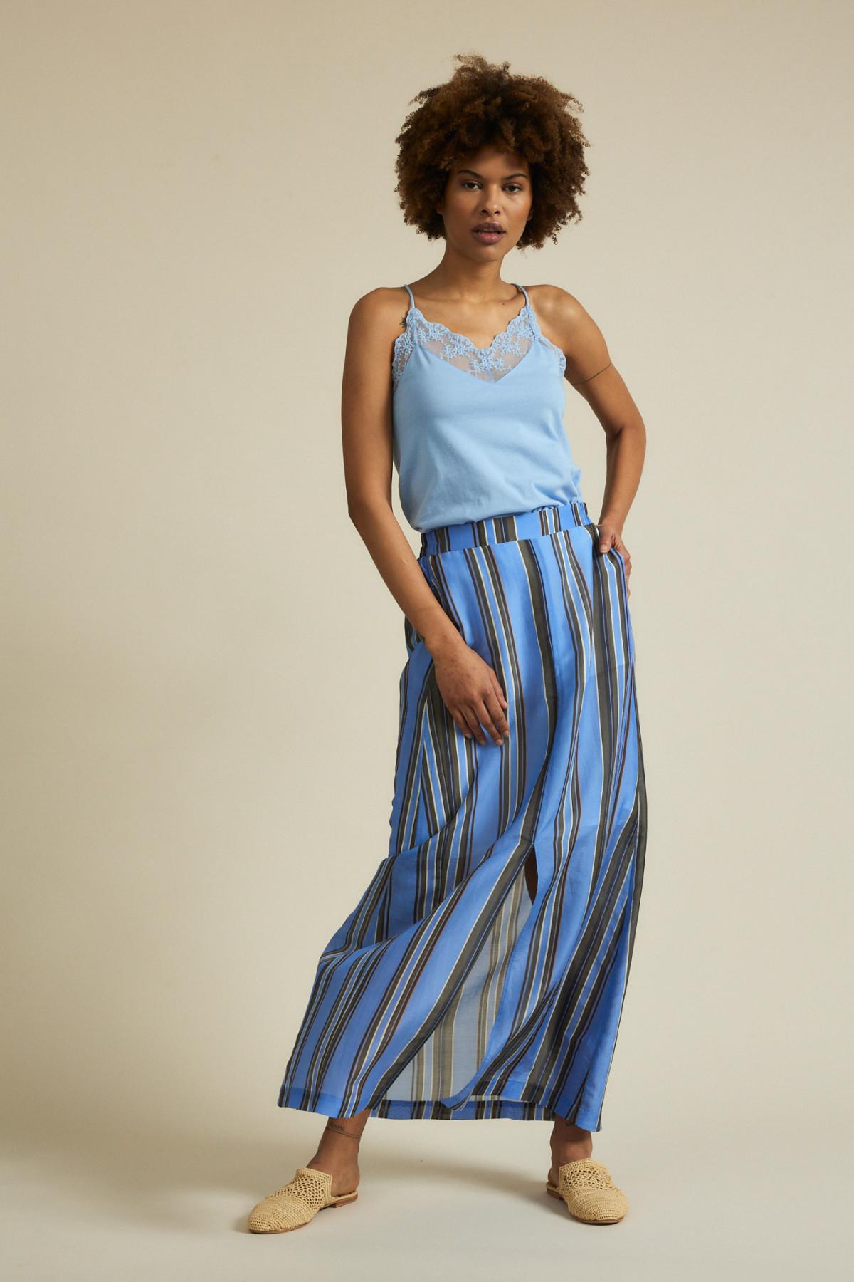 Maxi skirt print stripes