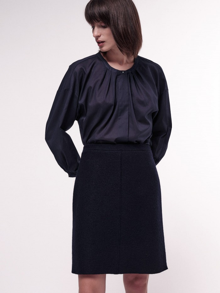 Classic Wool Skirt in Organic Virgin Wool