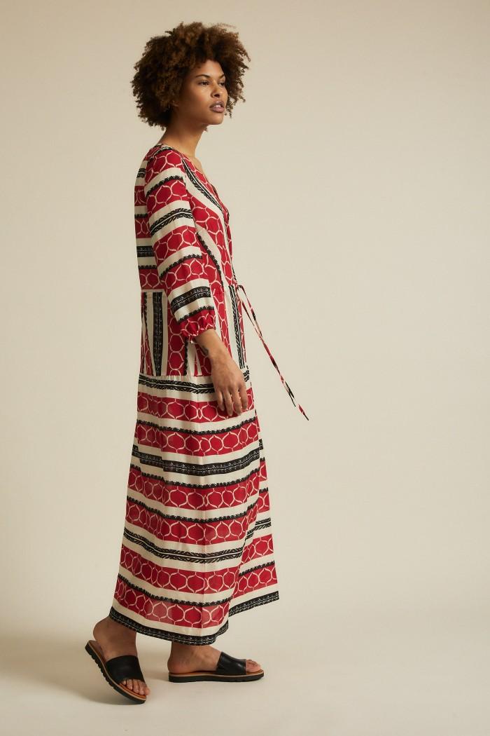 Midi dress in wrap look