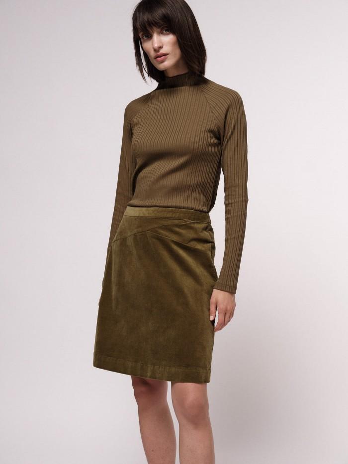 Velvet-Skirt made of organic cotton