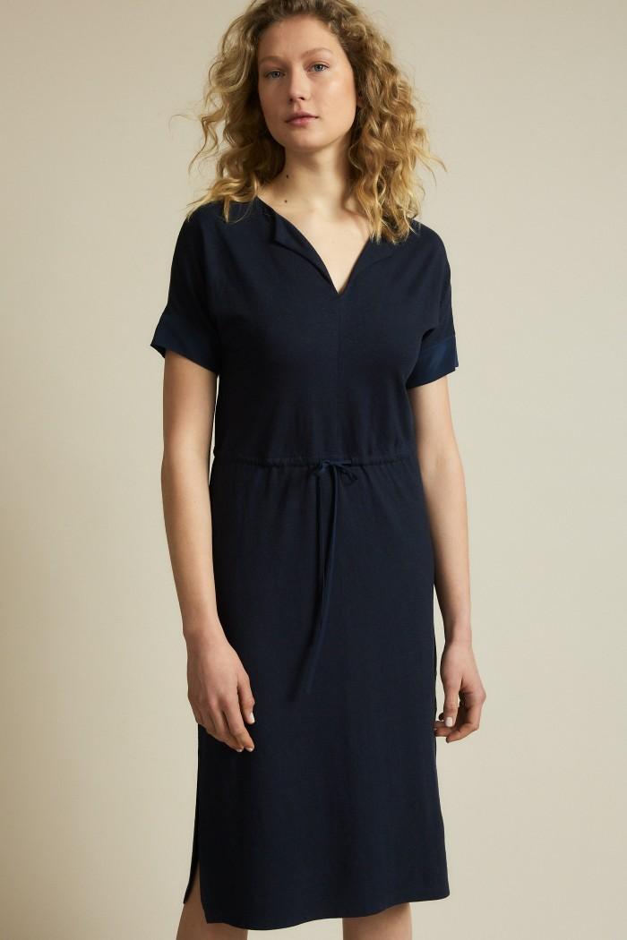Dress with V-neck