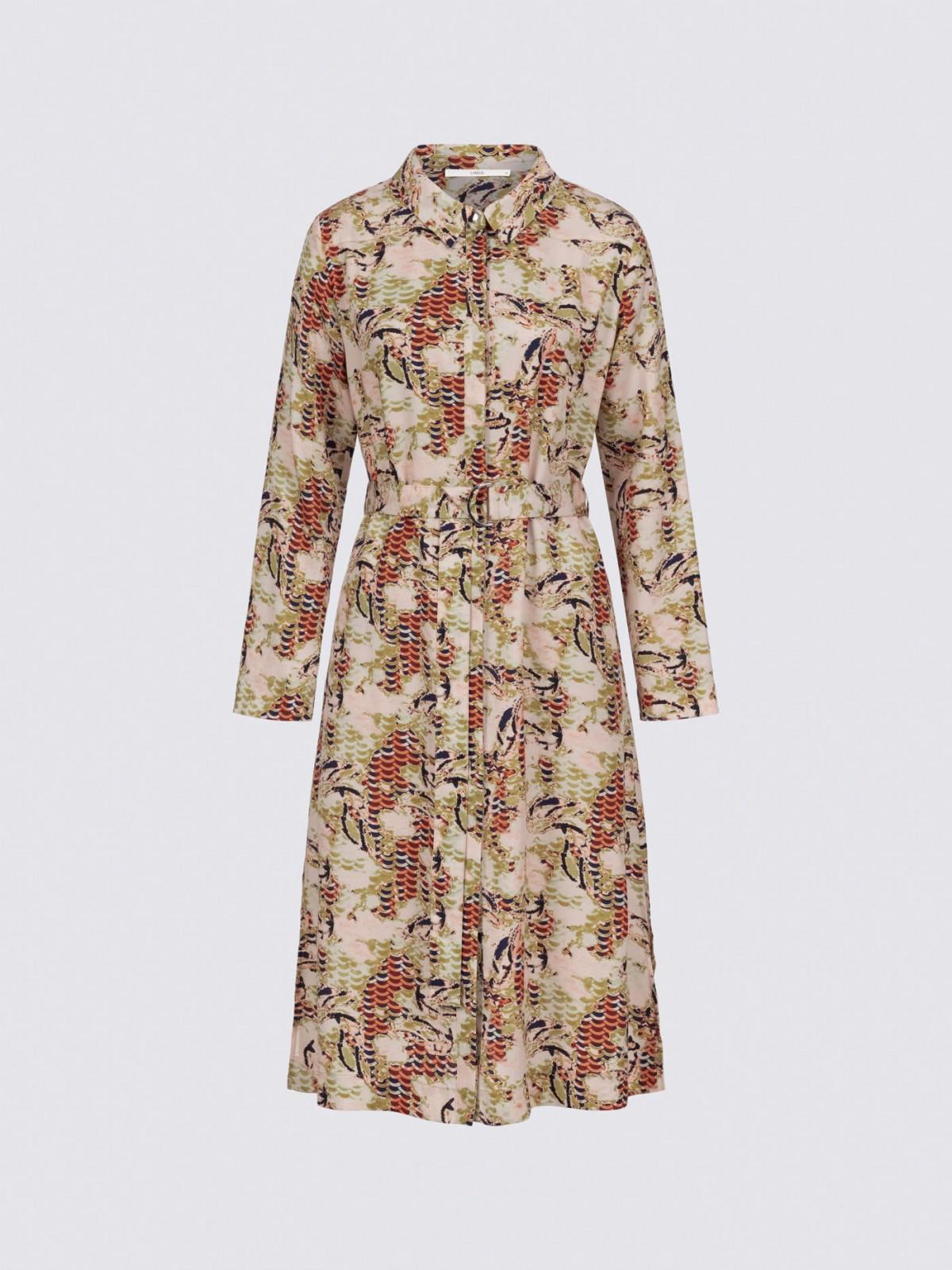 Hemdblusenkleid mir Print aus Lyocell (TENCEL™)