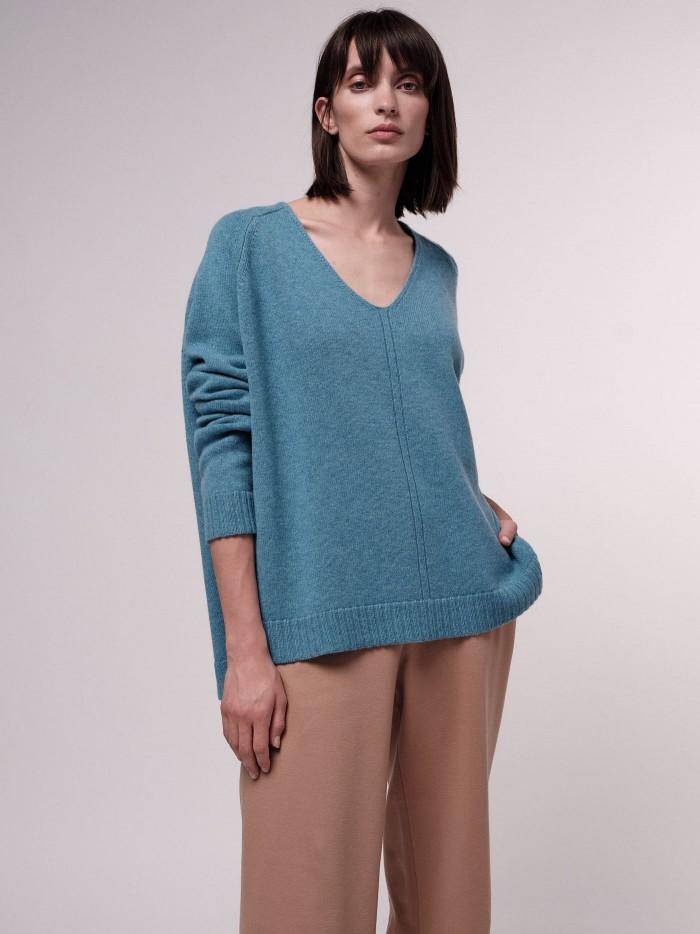 Oversize Pullover aus Bio-Merinowolle