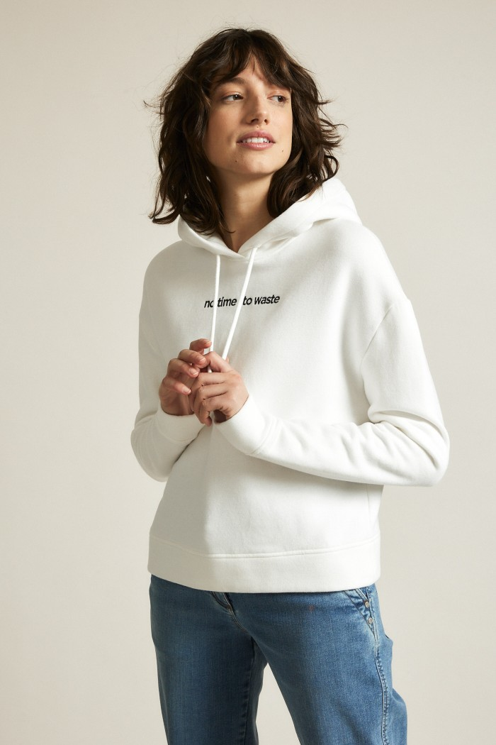 Sweatshirt mit Stickerei