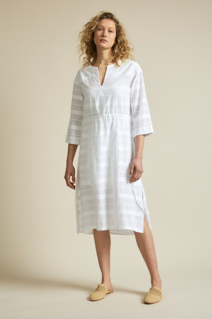Stripe jacquard dress