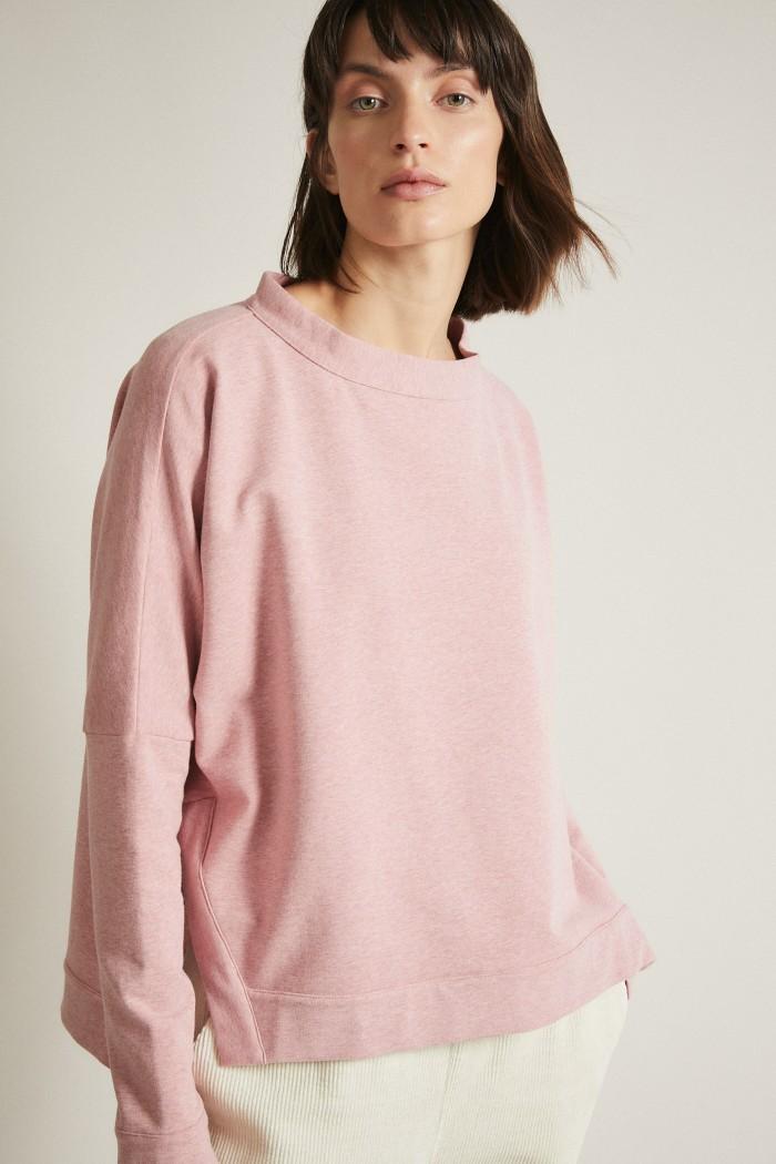 Sweatshirt mit Schlitzen GOTS