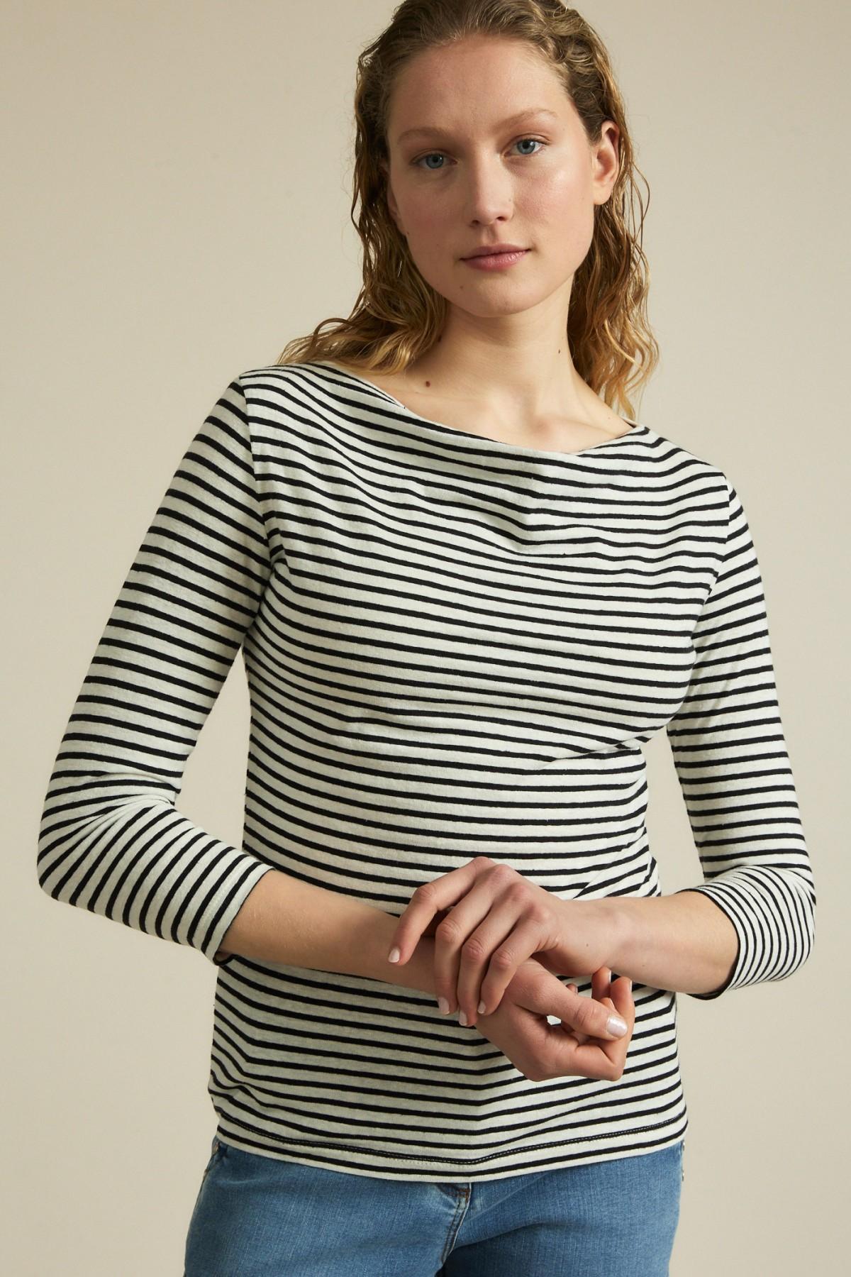 Striped waterfall shirt