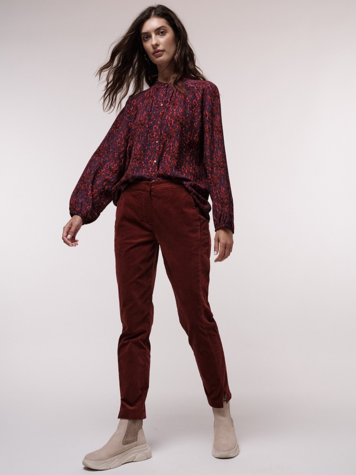 Samtige Velvet-Hose aus Bio-Baumwolle