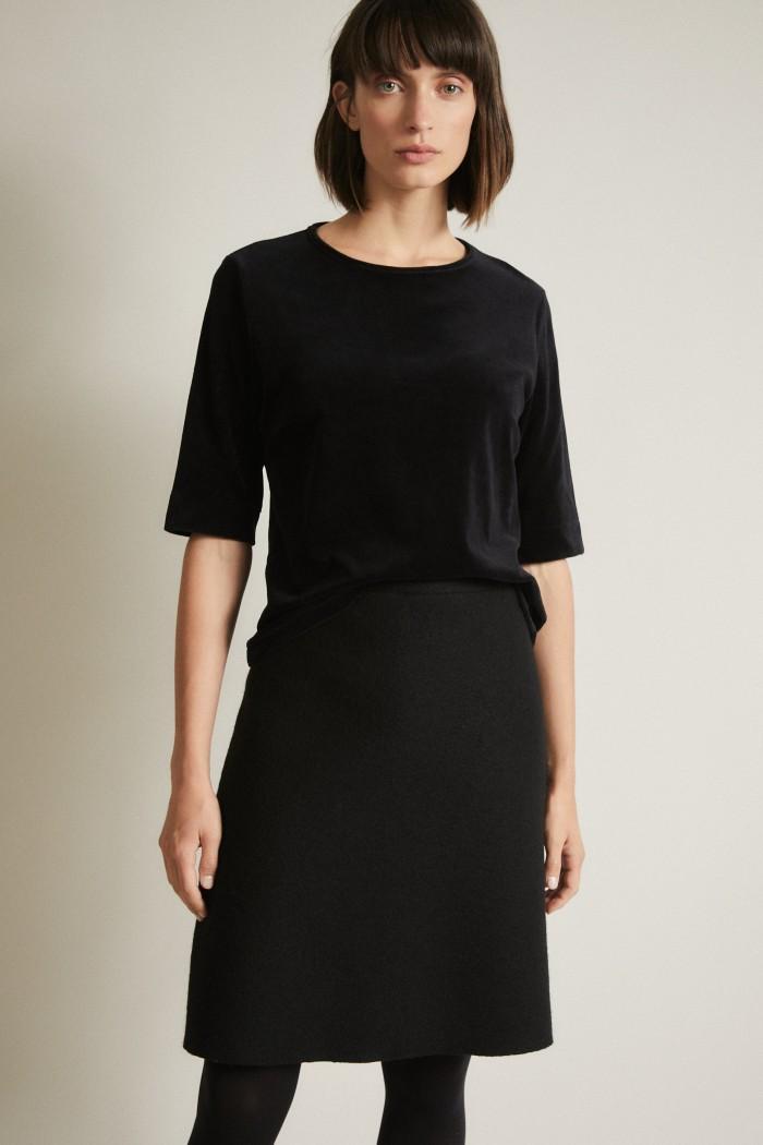 Felted wool skirt