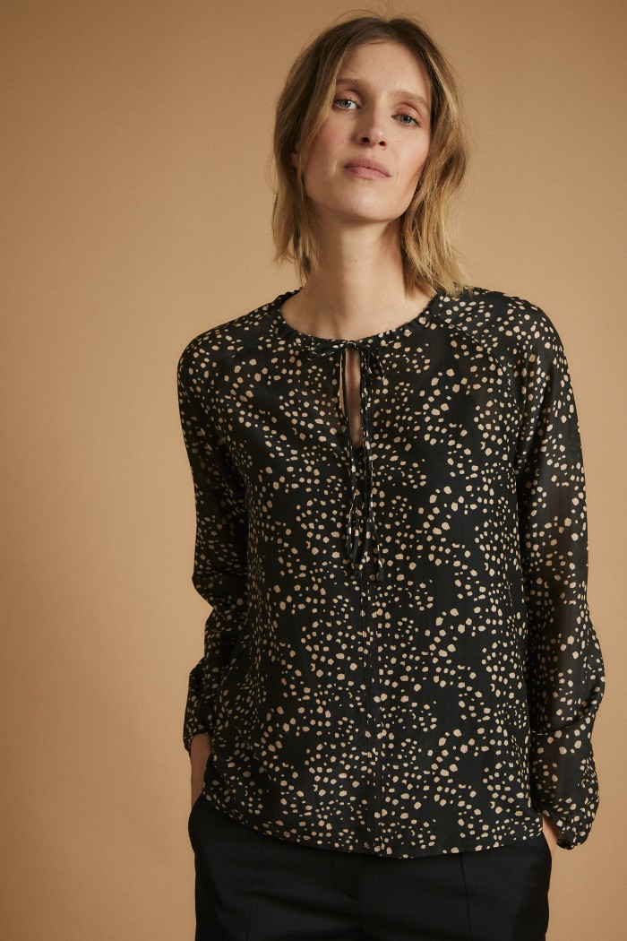 Blouse with Lacing