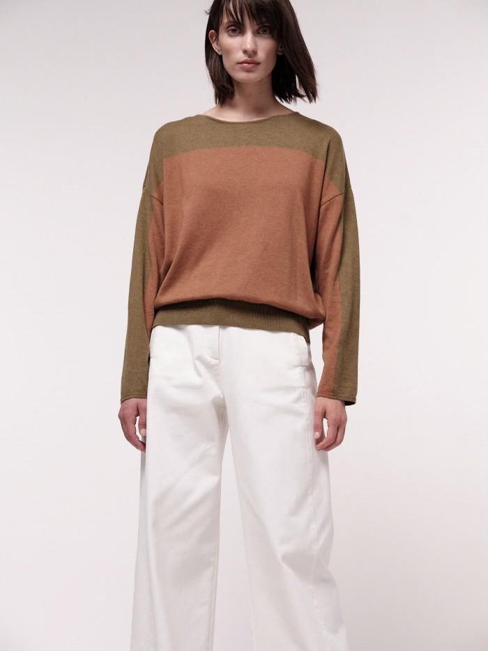 Colourblock-Pullover
