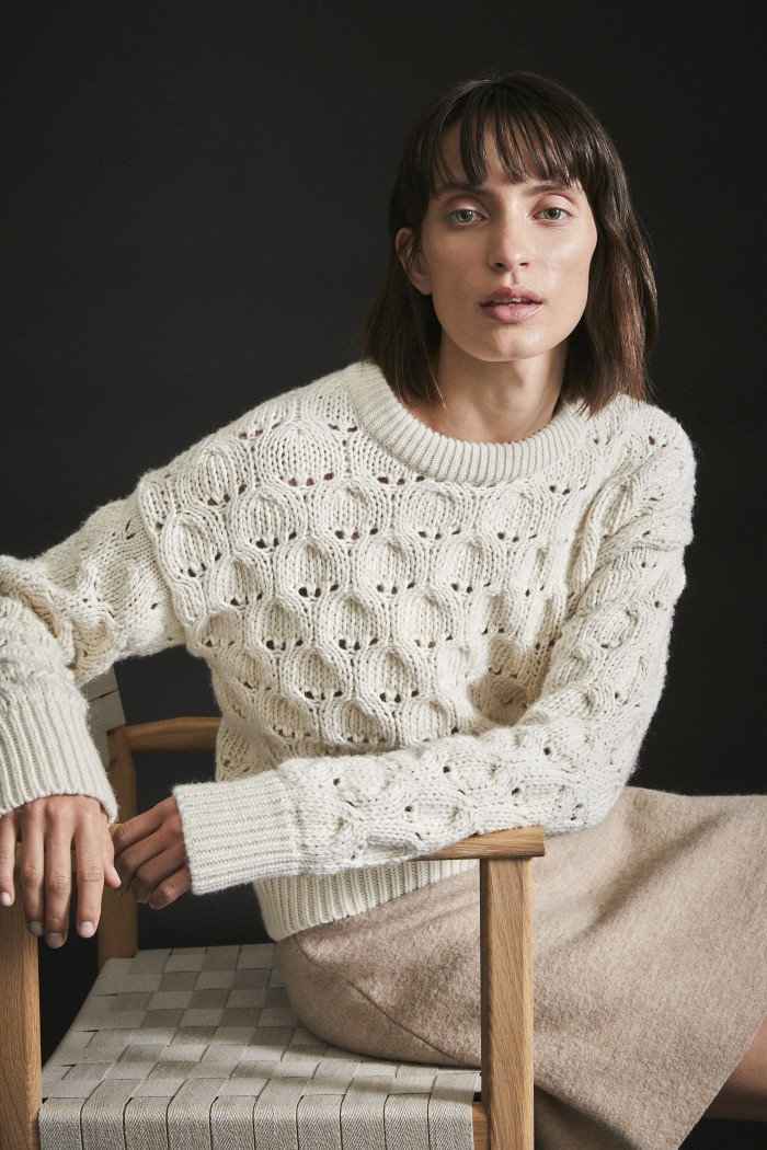 Coarsley Knit Pulllover GOTS