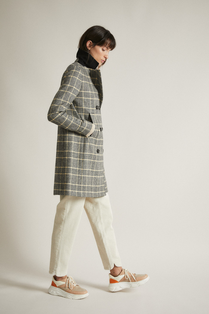 Check Pattern Coat