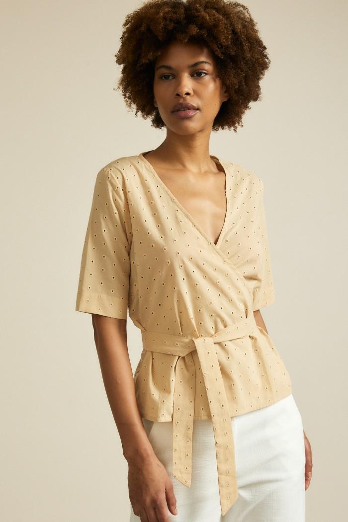 Wrap blouse