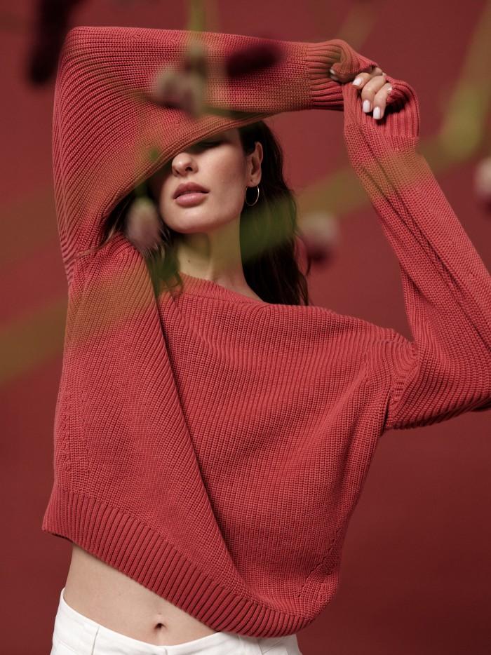 Coarse knit sweater