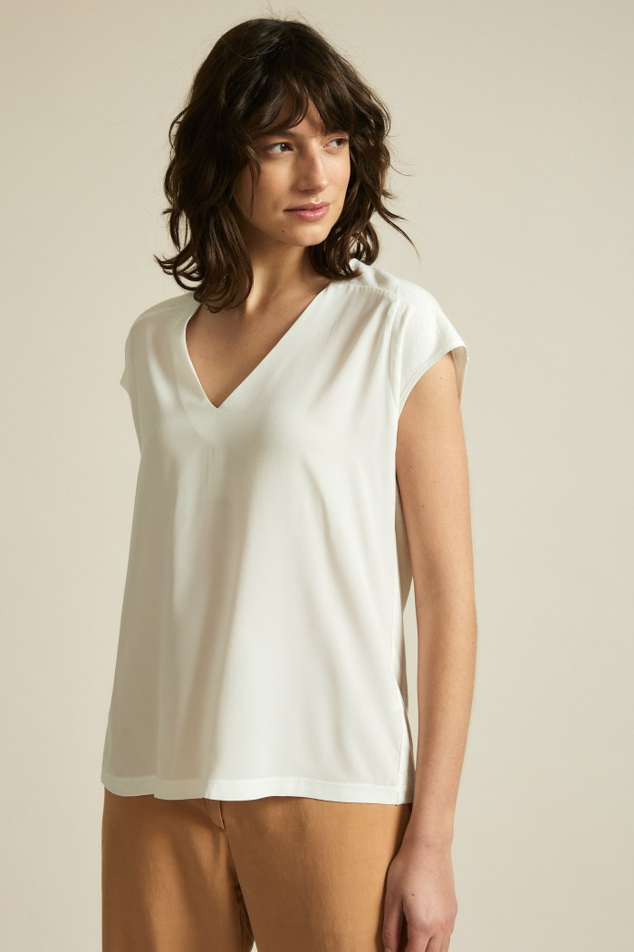 Silk shirt with hemp