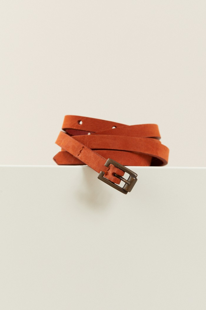 THIN BELT made of Leather