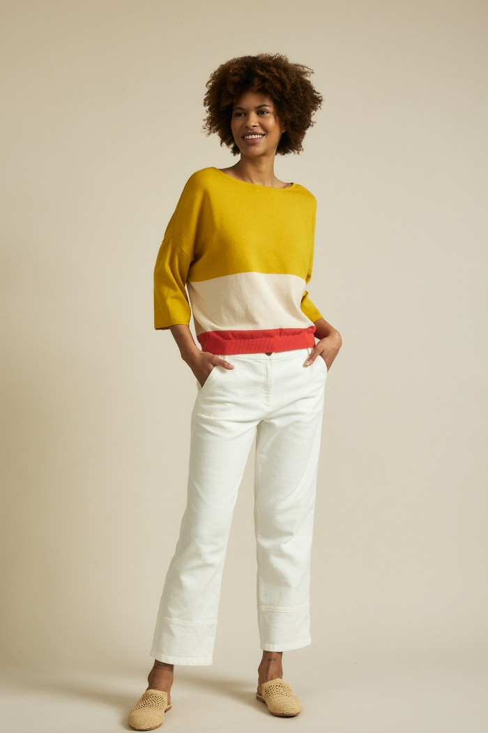Multicolor-Pullover 3/4 Arm