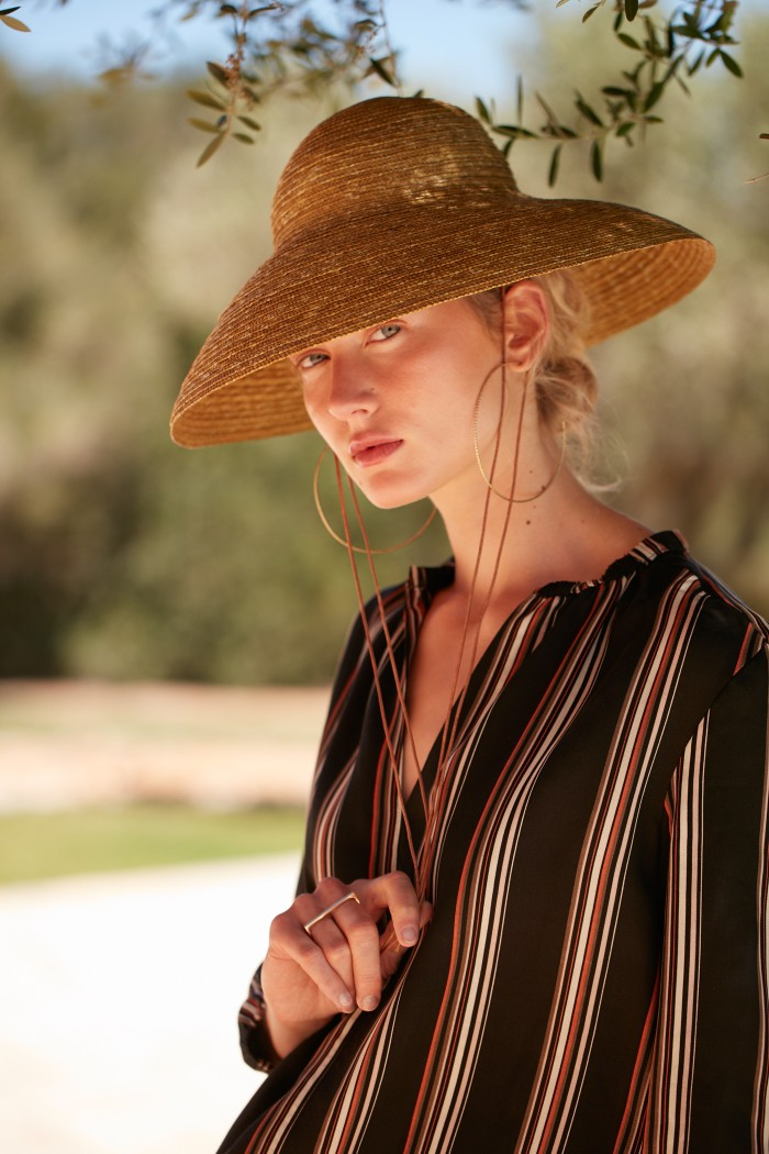 BLOUSE with stripes made of LENZING™ ECOVERO™