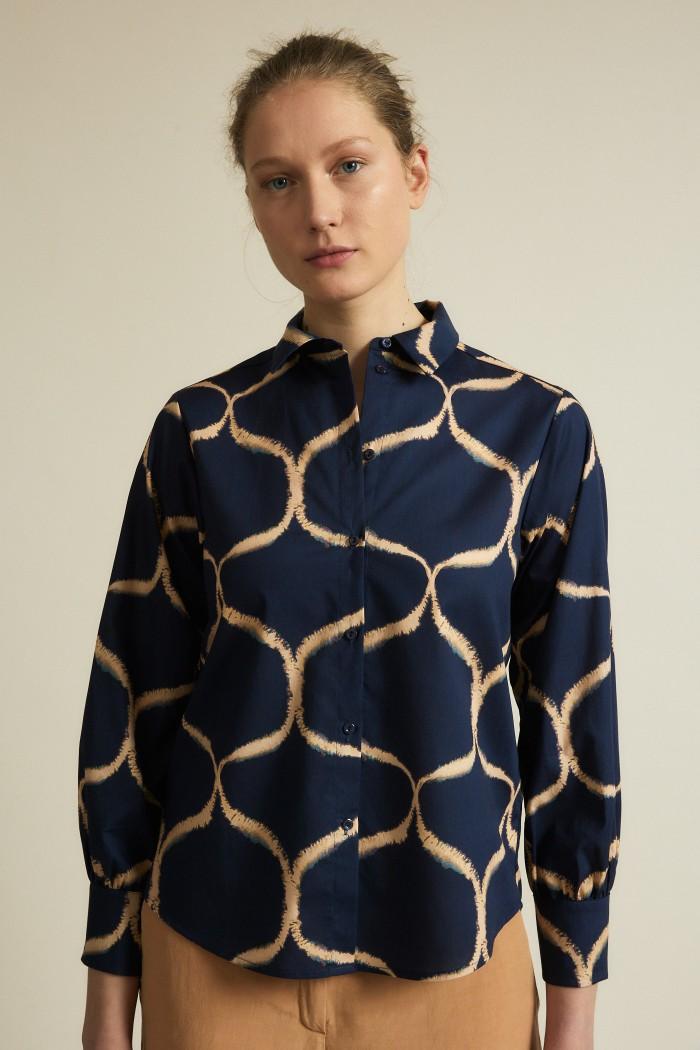 Shirt blouse print orient