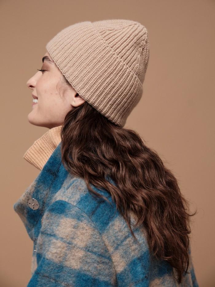 Mütze aus Bio-Baumwolle und Bio-Schurwolle