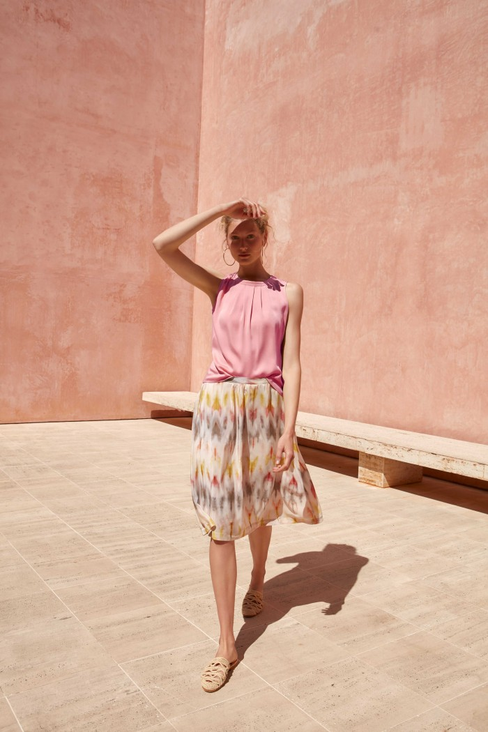 TOP with pleats made of TENCEL™ Modal