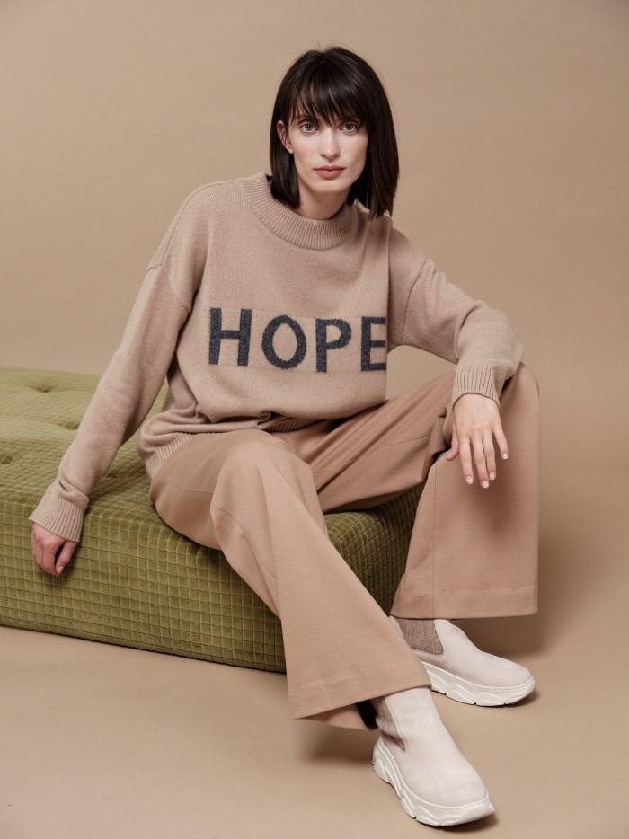 Statement Pullover HOPE aus Bio-Schurwolle und Bio-Baumwolle
