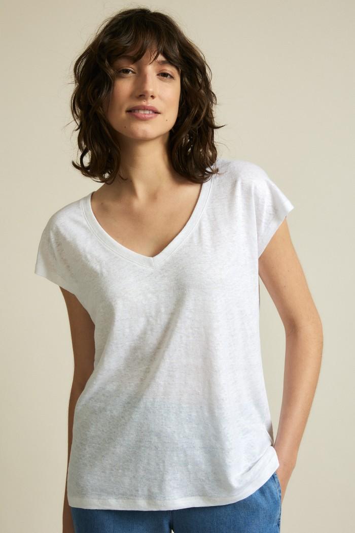 Shirt mit V-Ausschnitt GOTS