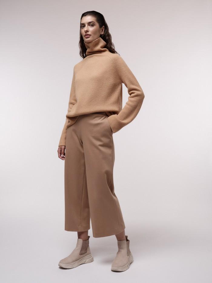 Organic cotton and virgin wool culotte