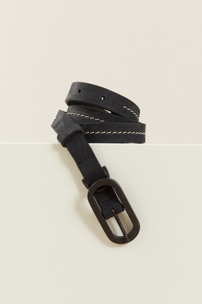EMBROIDERED BELT made of Leather