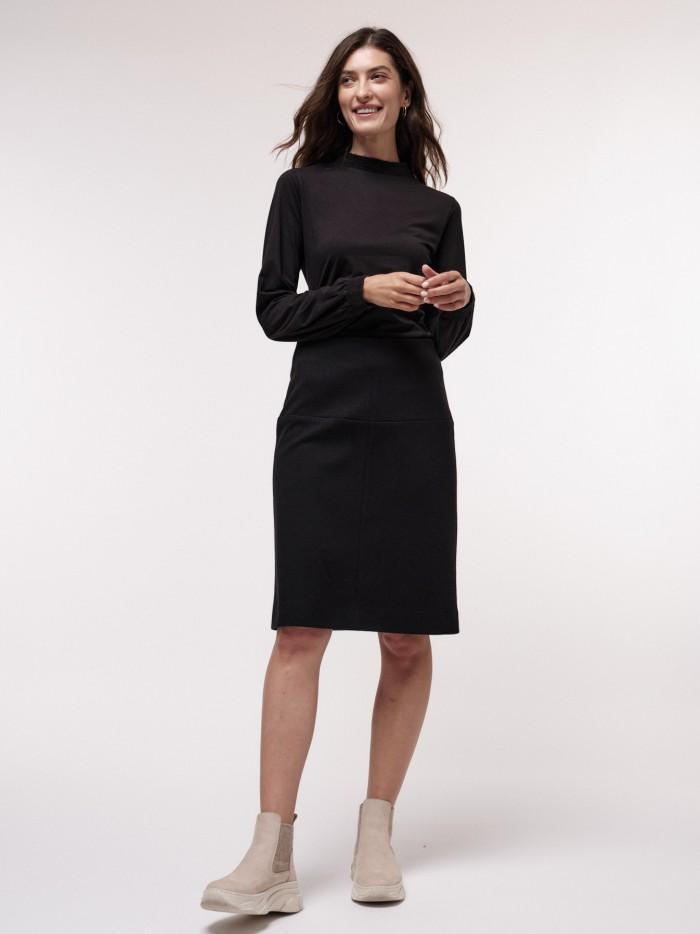 Organic cotton and virgin wool skirt