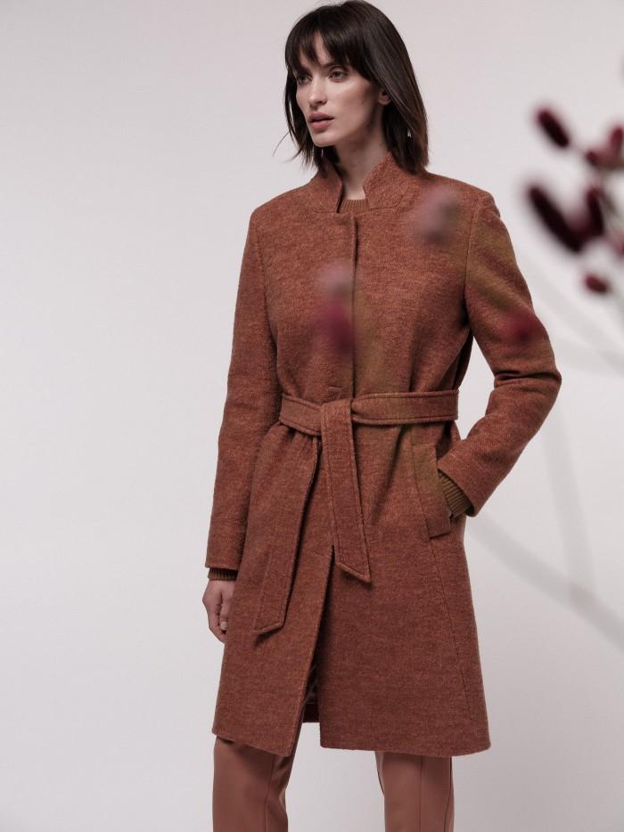 Woolen Coat with belt