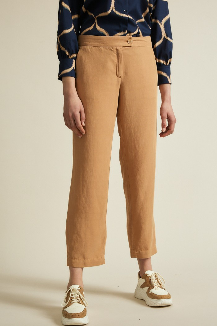 Pants made of TENCEL™ Lyocell and Linen