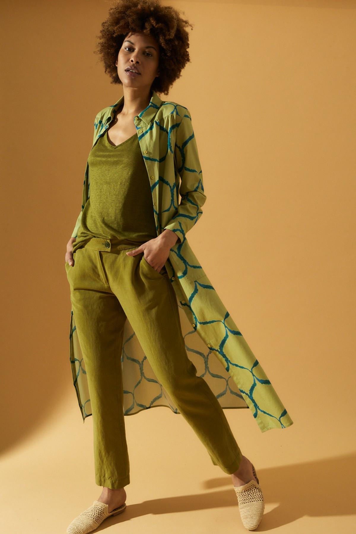Hemdblusenkleid Print Orient