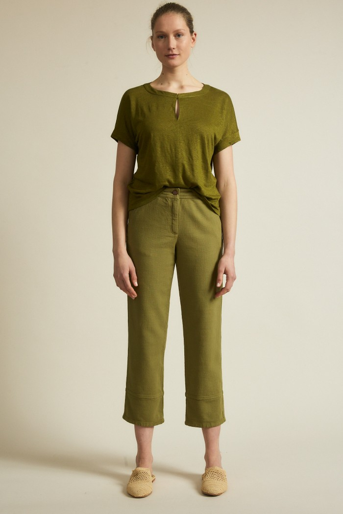 Cargo pants with structure