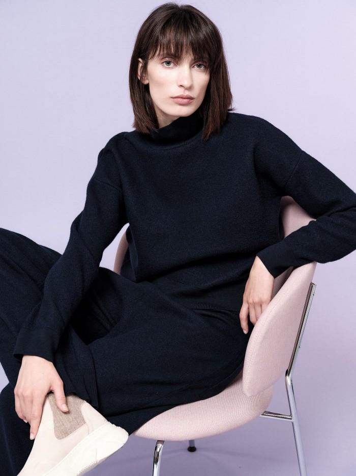 Cropped Pullover aus Bio-Merinowolle