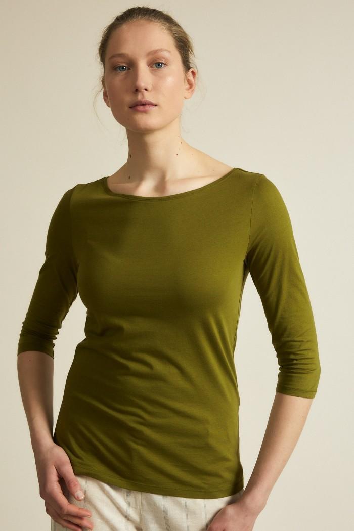 U-boat shirt GOTS 3/4 sleeve